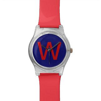 añada su letra inicial conocida reloj de mano