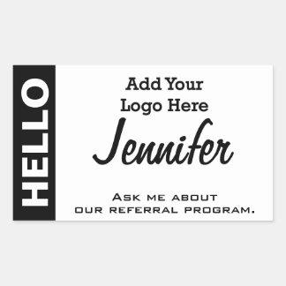 Añada su logotipo a esta etiqueta conocida de