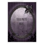 Añada su marco gótico adornado de la foto tarjetas