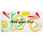 Añada su mensaje swirly al diseño colorido