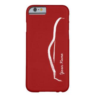 """""""añada su"""" Nissan conocido 370z en fondo rojo Funda De iPhone 6 Barely There"""