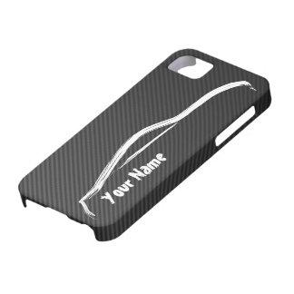 """""""añada su nombre"""" 350z con la falsa fibra de iPhone 5 carcasa"""