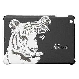 añada su nombre a este caso del iPad del tigre min iPad Mini Cárcasas