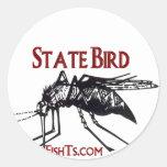 Añada su pájaro del Nombre-State del estado Etiqueta