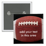 Añada su Pin del botón del fútbol del texto