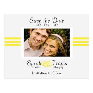 Añada su propia foto - amarillo tarjeta postal