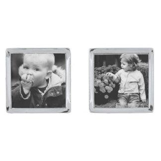 Añada su propia foto gemelos plateados
