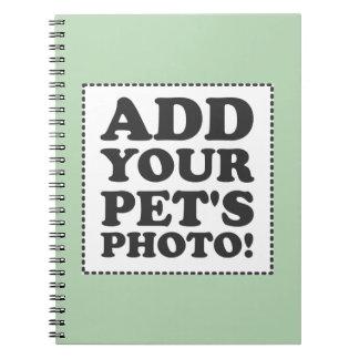 """""""Añada su propia foto """" Libros De Apuntes Con Espiral"""
