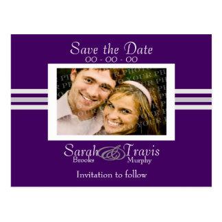 Añada su propia foto - púrpura postal