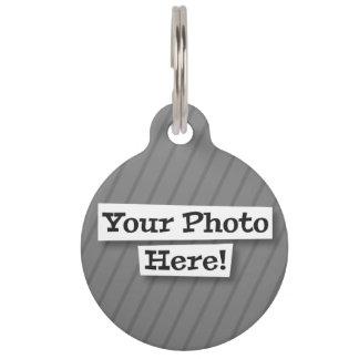 Añada su propia foto y modelo placa de mascota