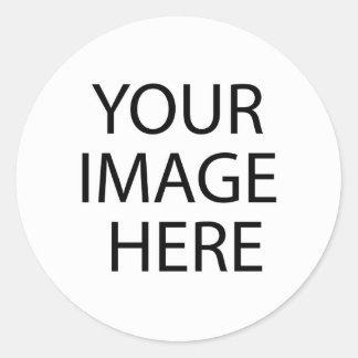 Añada su propia imagen o texto pegatina redonda