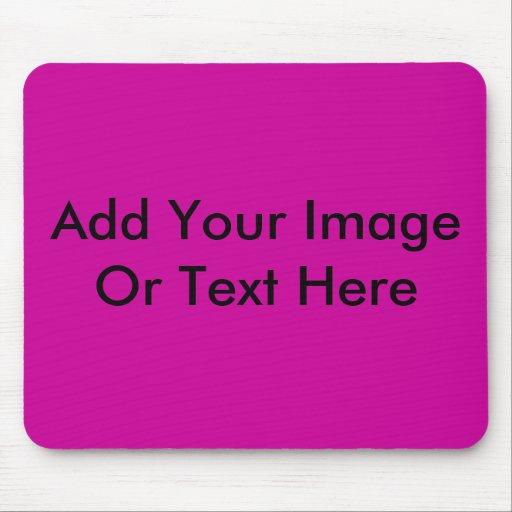 Añada su propia imagen o texto tapete de ratón