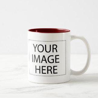 Añada su propia imagen o texto taza de dos tonos