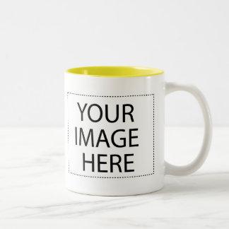 Añada su propia imagen o texto taza dos tonos