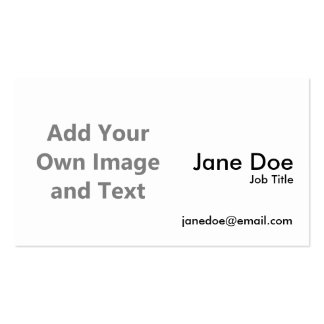 Añada su propia imagen y texto tarjetas de visita