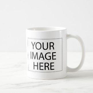 Añada su propia imagen y texto taza básica blanca