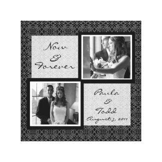 Añada su propia lona envuelta foto del boda impresión en lona