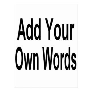 Añada su propia palabra postal