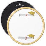 Añada su propio botón de la graduación del oro del pins