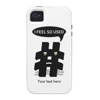 Añada su propio Hashtag divertido Vibe iPhone 4 Fundas