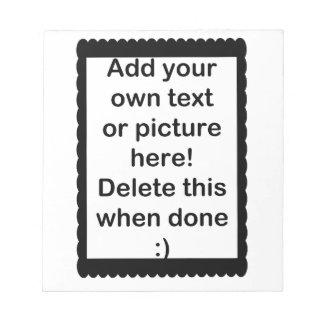 Añada su propio logotipo blocs de notas