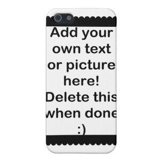 Añada su propio logotipo iPhone 5 funda