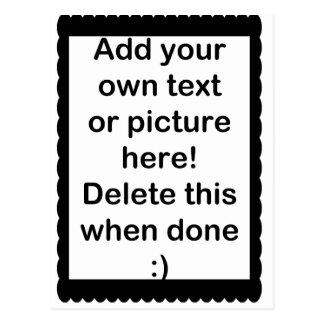 Añada su propio logotipo postales