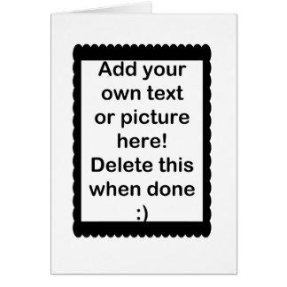 Añada su propio logotipo tarjeta pequeña