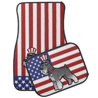Añada su propio mascota y bandera alfombrilla de auto