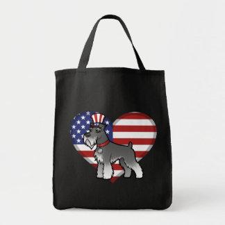 Añada su propio mascota y bandera bolsa tela para la compra