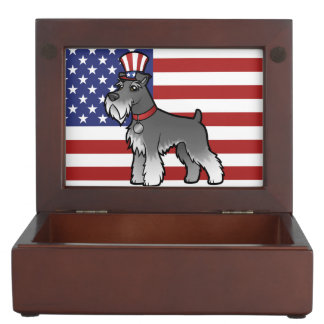 Añada su propio mascota y bandera cajas de recuerdos