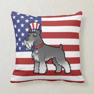Añada su propio mascota y bandera cojin