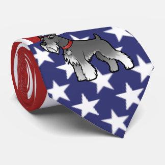 Añada su propio mascota y bandera corbatas personalizadas