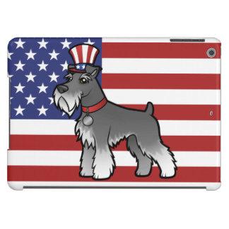 Añada su propio mascota y bandera funda para iPad air