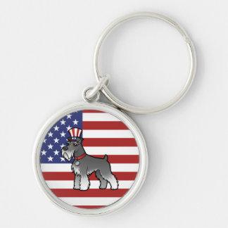 Añada su propio mascota y bandera llavero personalizado