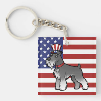 Añada su propio mascota y bandera llavero