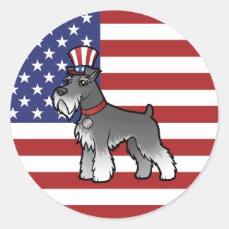 Añada su propio mascota y bandera etiquetas redondas