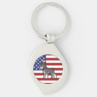 Añada su propio mascota y bandera llaveros