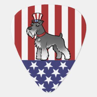 Añada su propio mascota y bandera plumilla de guitarra