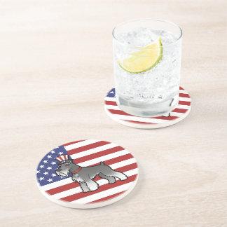 Añada su propio mascota y bandera posavaso para bebida