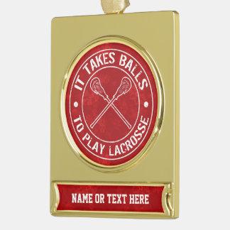 Añada su propio ornamento del navidad de LaCrosse Adornos Navideños Dorados
