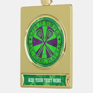 Añada su propio ornamento del navidad de LaCrosse Rótulos De Adorno Dorado