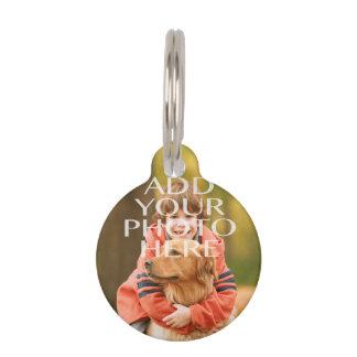 Añada su propio personalizado de la foto identificador para mascotas