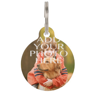 Añada su propio personalizado de la foto placa de mascota