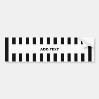Añada su propio texto a la pegatina para el pegatina para auto