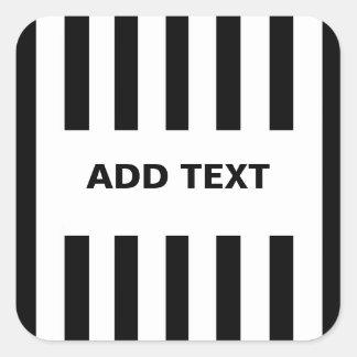 Añada su propio texto a los pegatinas del árbitro calcomanías cuadradass personalizadas