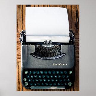 ¡Añada su propio texto al papel de máquina de escr Póster