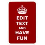 ¡Añada su propio texto aquí! Imán Rectangular