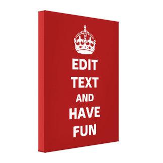 ¡Añada su propio texto aquí Lona Envuelta Para Galerias