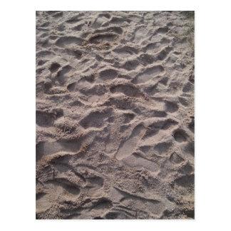 Añada su propio texto, escribiendo en arena, playa postales
